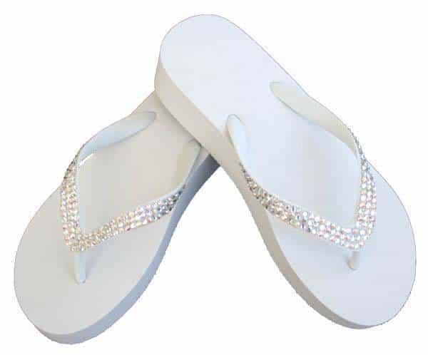 c9c4cd40f Swarovski Crystal Bridal Flip Flops