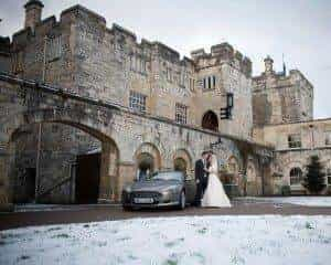 A White, White Wedding at Hazelwood Castle