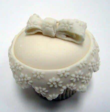 Lace wedding cupcake