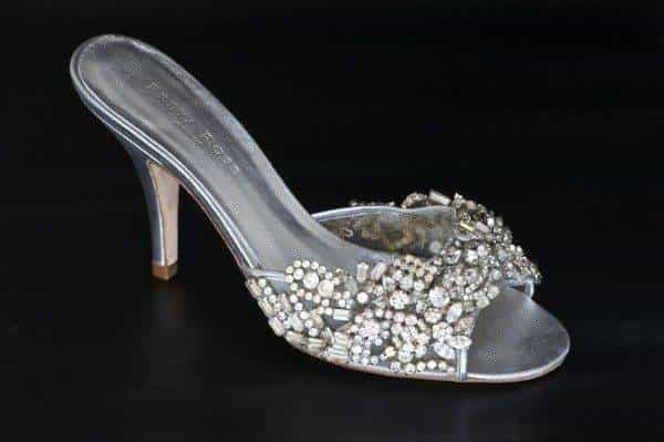 Silver Jewel Wedding Shoes