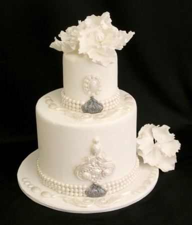 Elizabeth 39s Bling Wedding Cake
