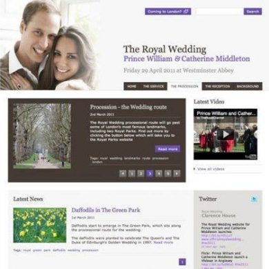 The Royal Wedding Website
