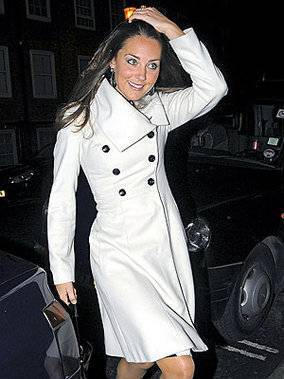 Kate Middleton In White Coat
