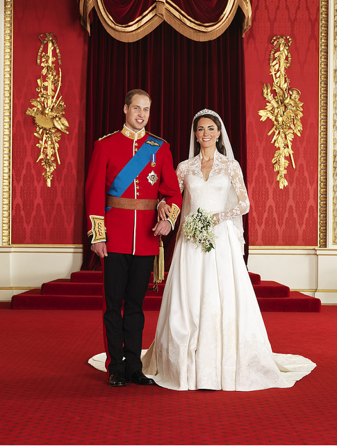The Bride and Groom, TRH The Duke and Duchess of Cambridge in the Throne Room