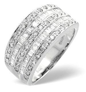 Platinum Wide Ring 1 Carat Diamond