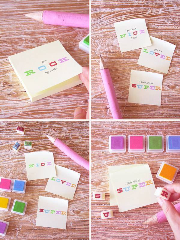 Alternative Wedding favours DIY Favour Kits From stamps to stickers