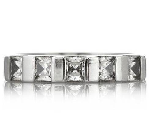 Eternal by Diamonique 1.15ct tw 5 Stone Ring Stainless