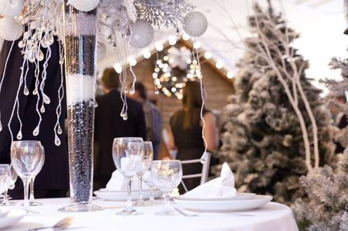 Winter Wedding Venue Dressing