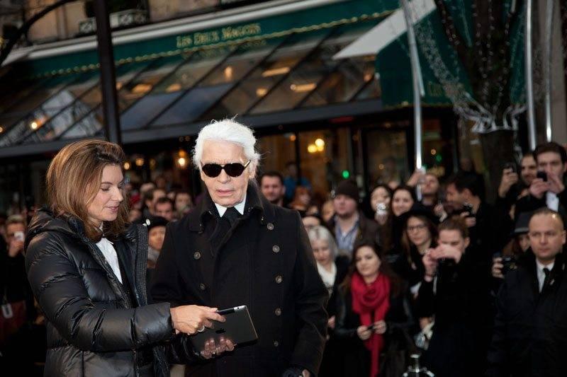 Karl Lagerfeld meets Paris Natalie Massenet in Paris