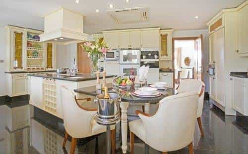 Huge kitchen and casual dining