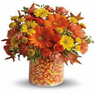 Orange & Yellow Sweet Floral Desplay