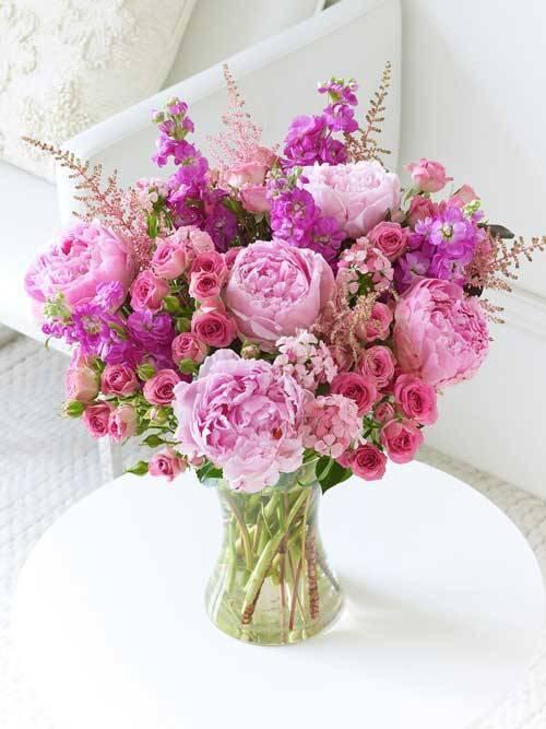 Peony & Rose Wedding Flowers