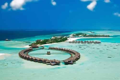 Aerial Olhuveli Maldives