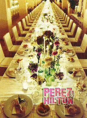 Justin Timberlake Wedding Table