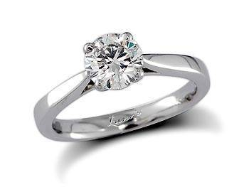 Brilliant cut solitaire diamond ring set in platinum from Simon Pure RRP £1,472