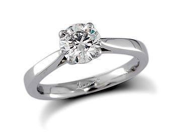 Brilliant cut solitaire diamond ring set in platinum from Simon Pure RRP £1,472