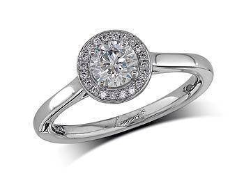 Platinum and diamond engagement ring John H Lunn.