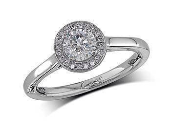 Platinum and diamond engagement ring John H Lunn.