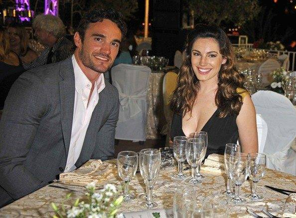 Kelly Brook and boyfriend Thom Evans