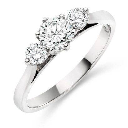 Three stone diamond ring set in platinum from Beaverbrooks, RRP £4,500