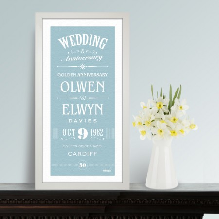 Personalised Anniversary Prints