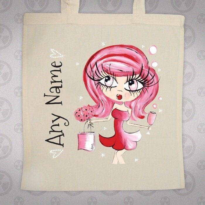 Large Valentines Jute Bag by ClareBella