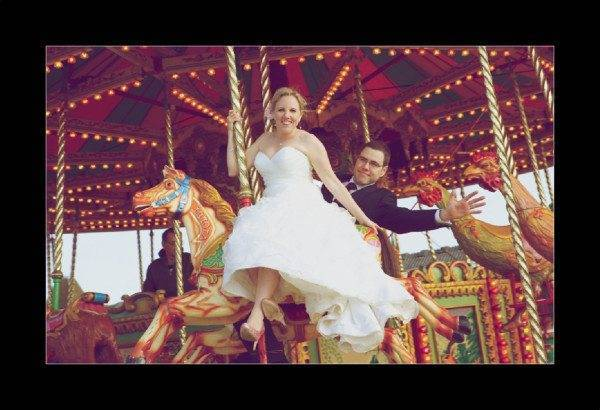 Vintage Weddings the fair ride