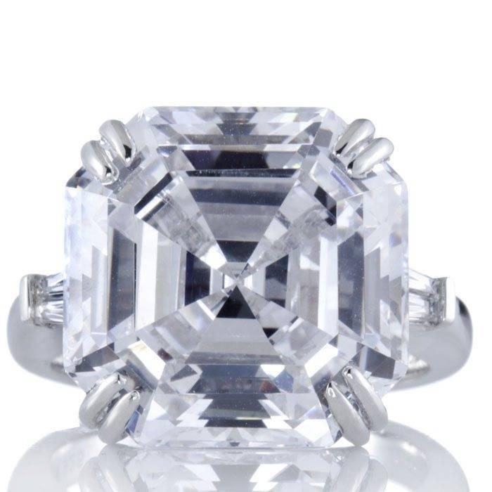 Diamonique-19ct Asche Ring