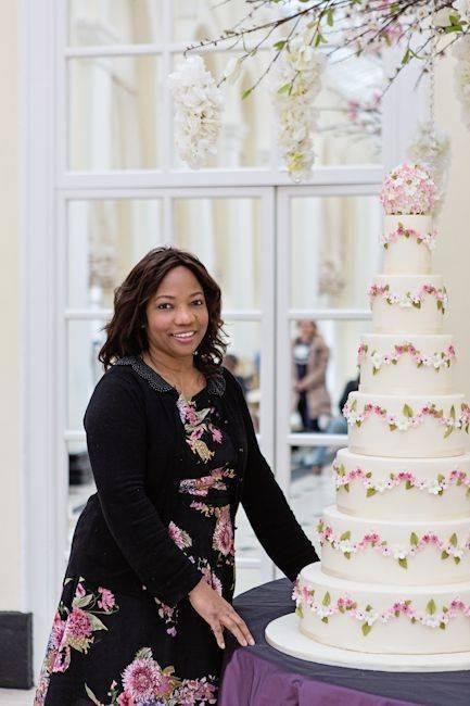 Elizabeth From Elizabeth Cake Emporium With One Of Her Stunning Wedding Cakes