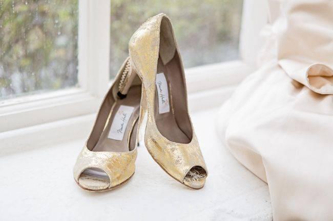 Blenheim Palace - gold shoes