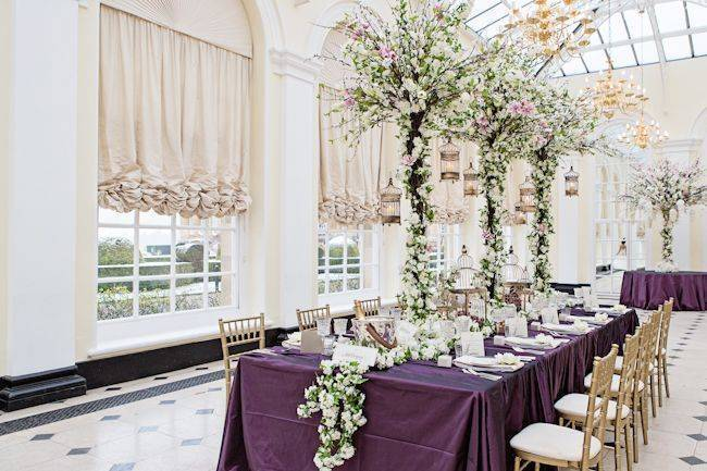 Blenheim Palace - table decorations