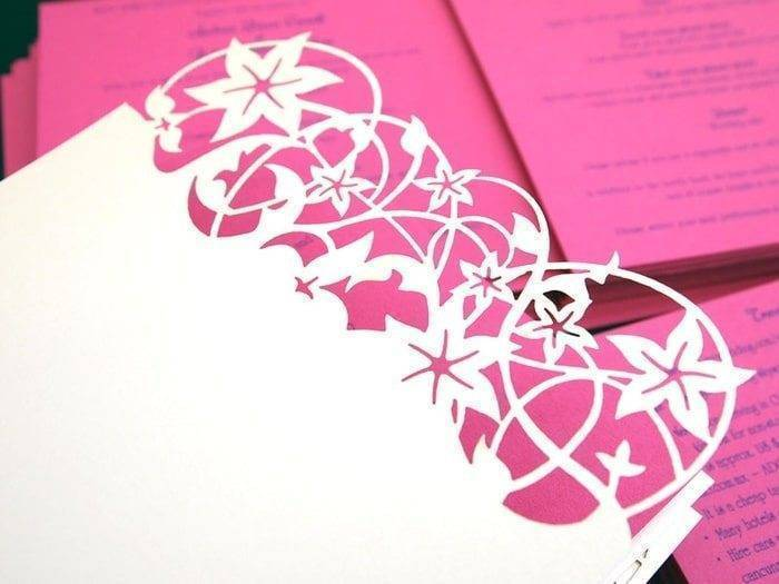 Beautiful Bespoke Laser Cut Stationery - Intricate Creations - Laser Cut Stationery