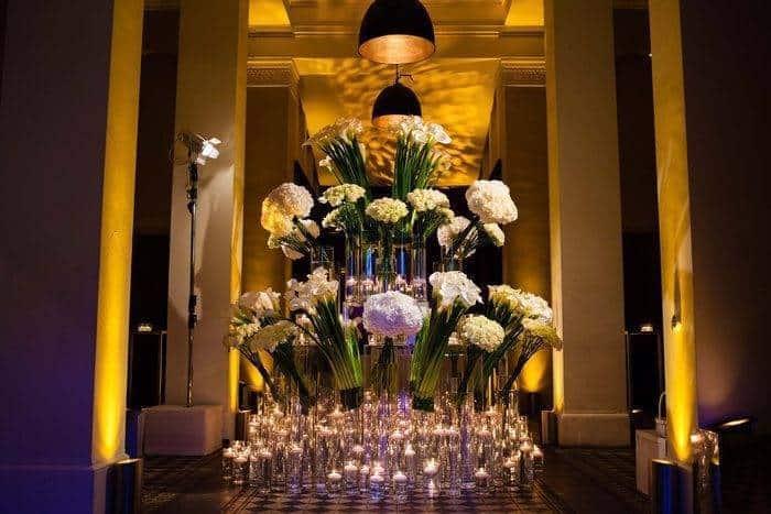 Cream Wedding Flower Display