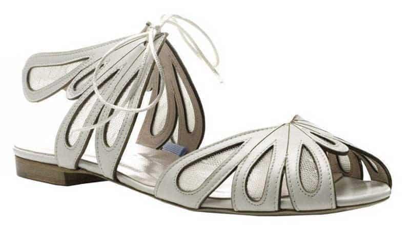 Harriet Wilde flat bridal shoe