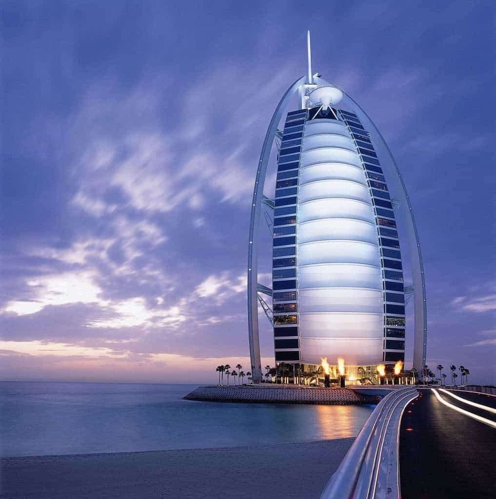 Burj Ala Arab Stunning View at Night