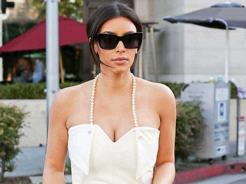 Kim Kardahsian Bridal Shower Dress