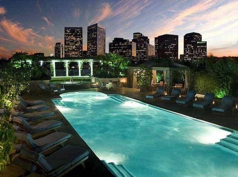 Peninsula Hotel in Beverly Hills Swimming Pool