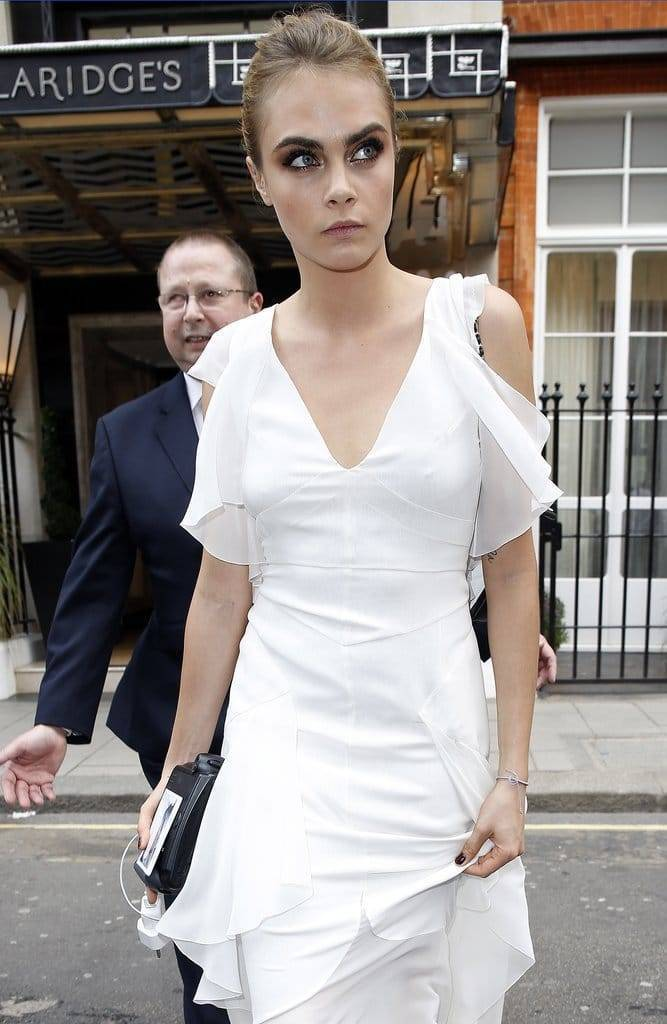 Cara Delevingne In Chanel Gown