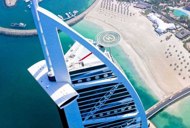 Burj Al Arab Wedding On Helipad