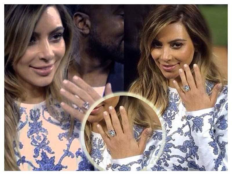 Kim Kardashian and Kanye West Engagement Ring