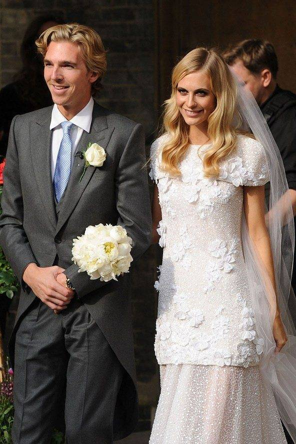 Poppy Delevingne Wedding Day