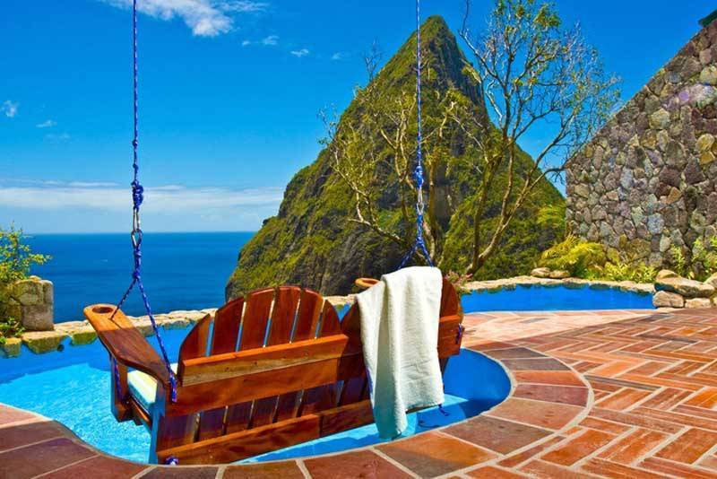 Saint Lucia, Caribbean Pool With View