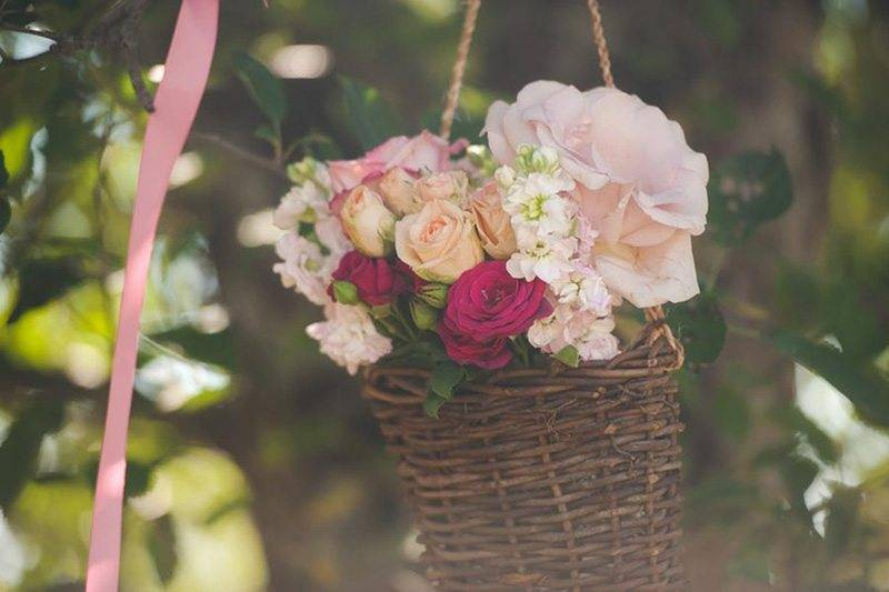Wedding Roses In Basket