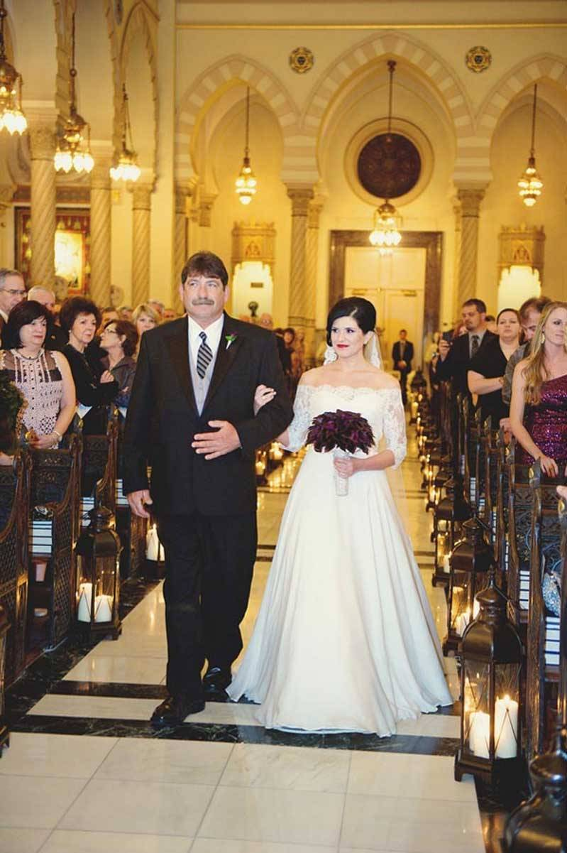 Bride With Father In Church