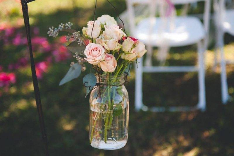 Wedding Roses In Jar