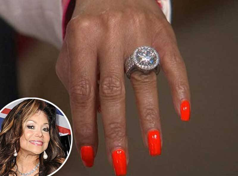 La Toya Jackson 17.5 Carat Diamond Engagement Ring