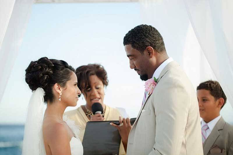 Real Wedding Beach Ceremony