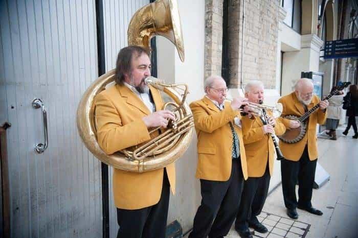 Live Brass Band On Platform - Orient Express