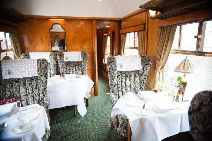 Audrey Carriage On The British Pullman