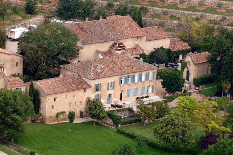 Brad and Angelina Chateau Miraval France